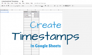 timestamps in google sheets